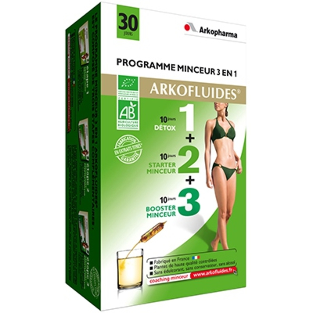 ARKOPHARMA Programme Minceur Détox/Starter Minceur/Booster Minceur - programme minceur - Arko Pharma Arkofluides Programme Minceur Bio-148128