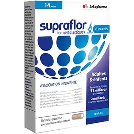 Arkopharma supraflor - 14 gélules - 14.0 unites - bien-être digestif et transit - arkopharma Supraflor Ferments Lactiques-191816