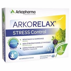Arkorelax stress control 30 comprimés - arkopharma -216039