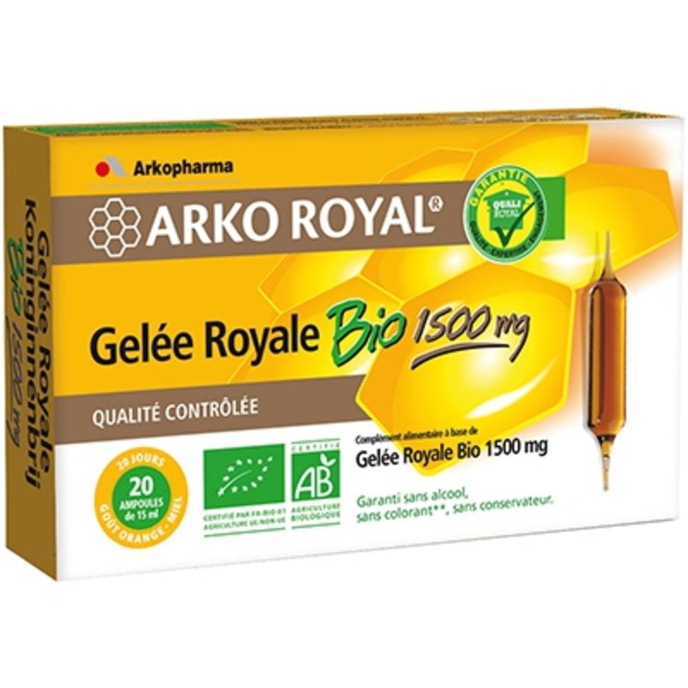 Arkoroyal gelée royale 1500 mg - 20.0 unites - gelée royale - arkopharma ARKO ROYAL® Gelée Royale 1500mg Bio-104463