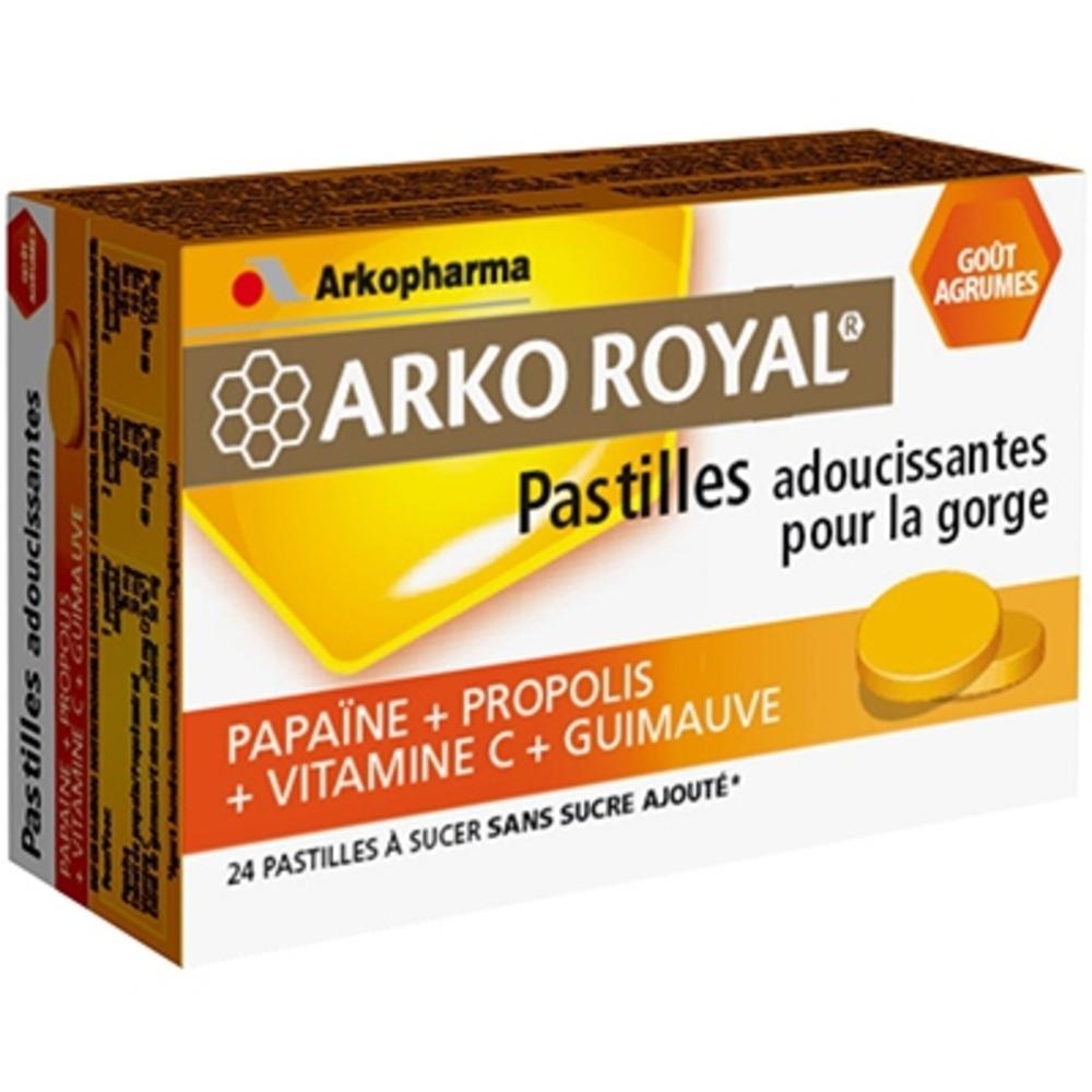 Arkoroyal pastilles propolis agrumes - gorge - arkopharma ARKO ROYAL® Pastilles Propolis goût Agrumes-148101