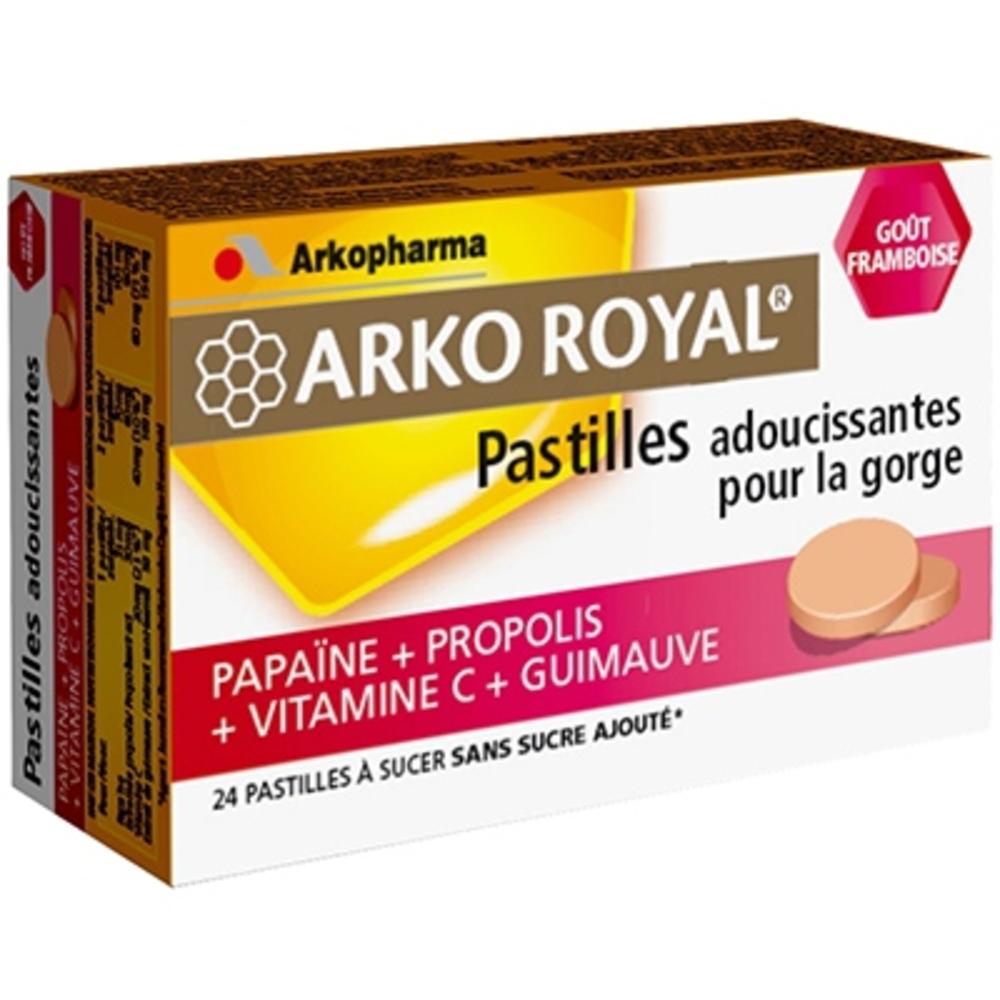 Arkoroyal pastilles propolis framboise - gorge - arkopharma ARKO ROYAL® Pastilles Propolis goût Framboise-148100