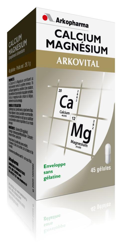 Arkovital Calcium et Magnésium - 45.0 unites - stress surmenage - Arko Pharma Arkovital Calcium et Magnésium-5452