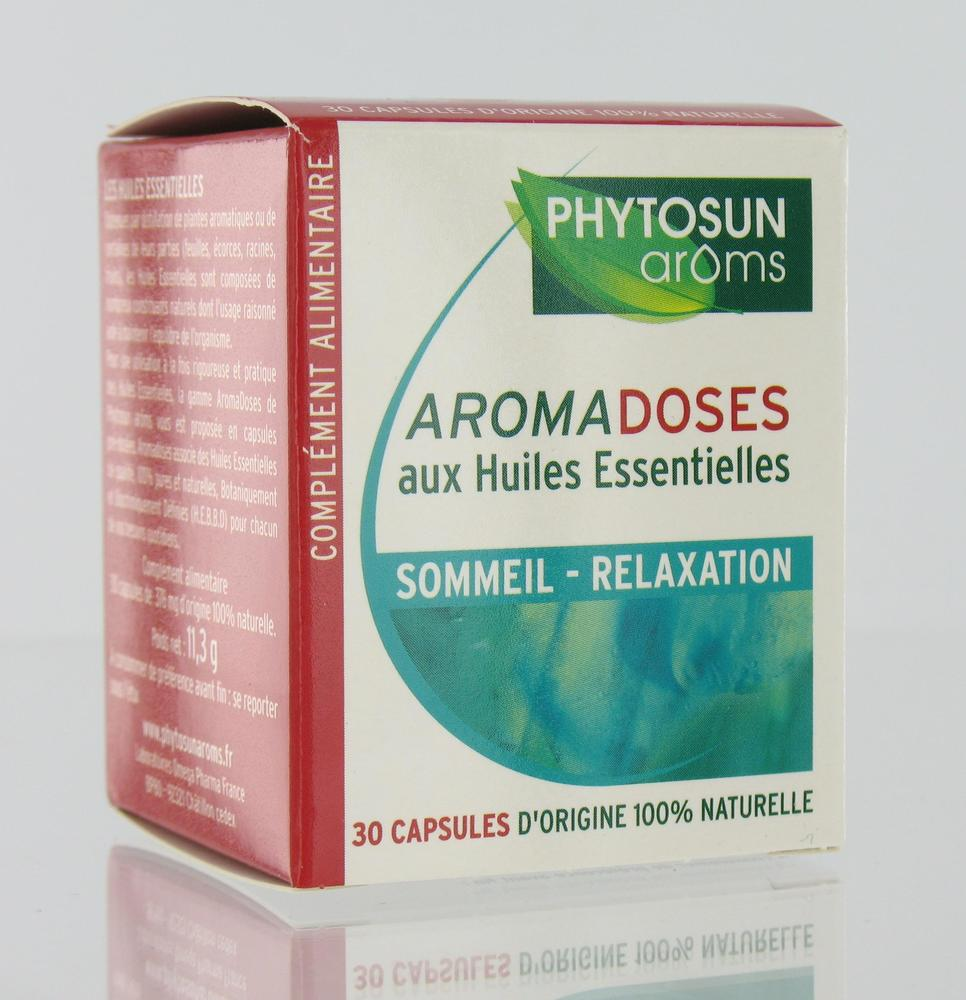 Aromadoses Sommeil Relaxation - 30.0 unites - Aromadoses - Phytosun Arôms -107126