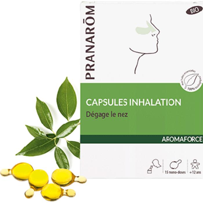 Aromaforce capsules inhalation bio 15 mono-doses Pranarom-227875