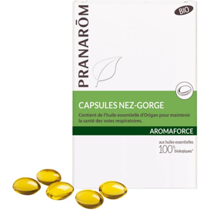 Aromaforce capsules nez gorge 30 capsules Pranarom-222658
