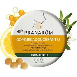 Aromaforce gommes adoucissantes bio miel citron 45g - pranarom -228186