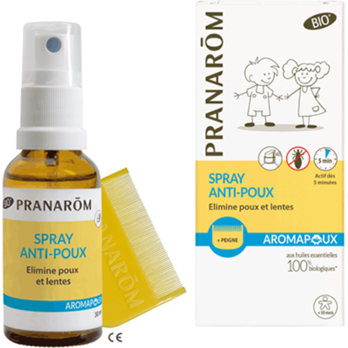 Aromapoux spray anti-poux bio 30ml Pranarom-225894