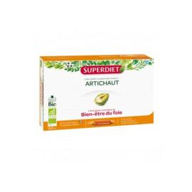 Artichaut bio - 20 ampoules - 20.0 unites - digestion bien être - super diet Draine le foie, confort digestif-4440