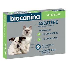 Ascatene vermifuge 10 comprimés - biocanina -144230