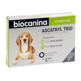 Ascatryl trio vermifuge chien +2kg 4 comprimés - biocanina -215451