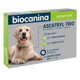 Ascatryl trio vermifuge grand chien +17,5kg 2 comprimés - biocanina -215450