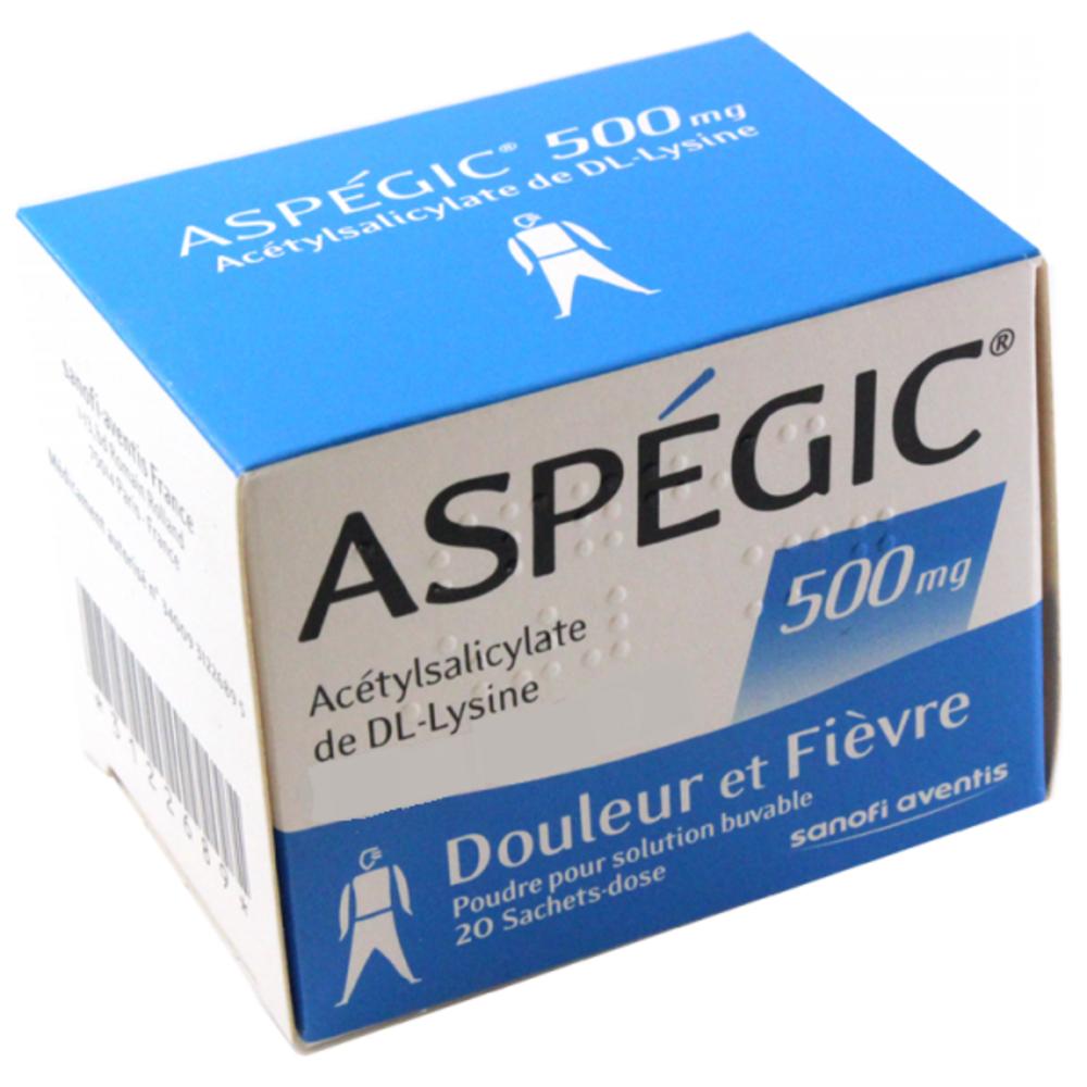 Aspegic 500mg - 20 sachets - sanofi -192266