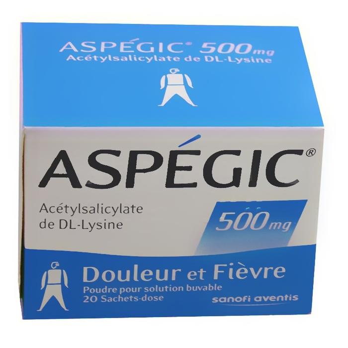 Aspegic 500mg - 30 sachets Sanofi-192886