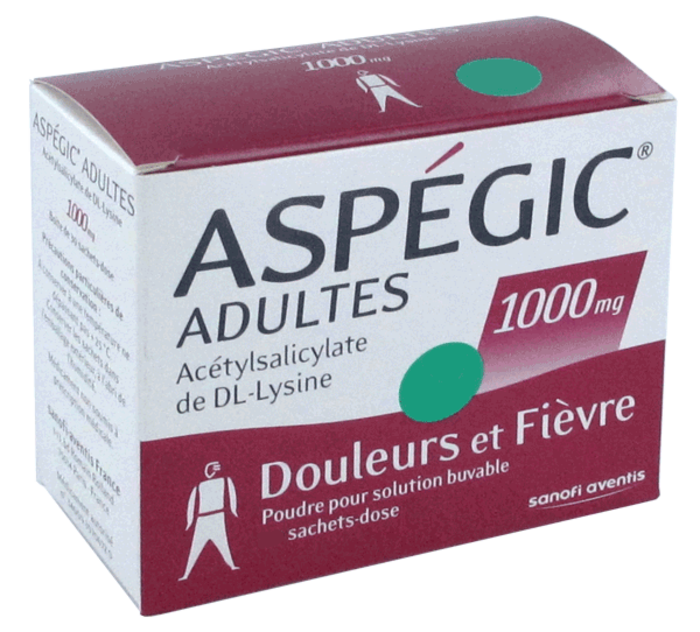 Aspegic adultes 1000mg - 20 sachets Sanofi-192431