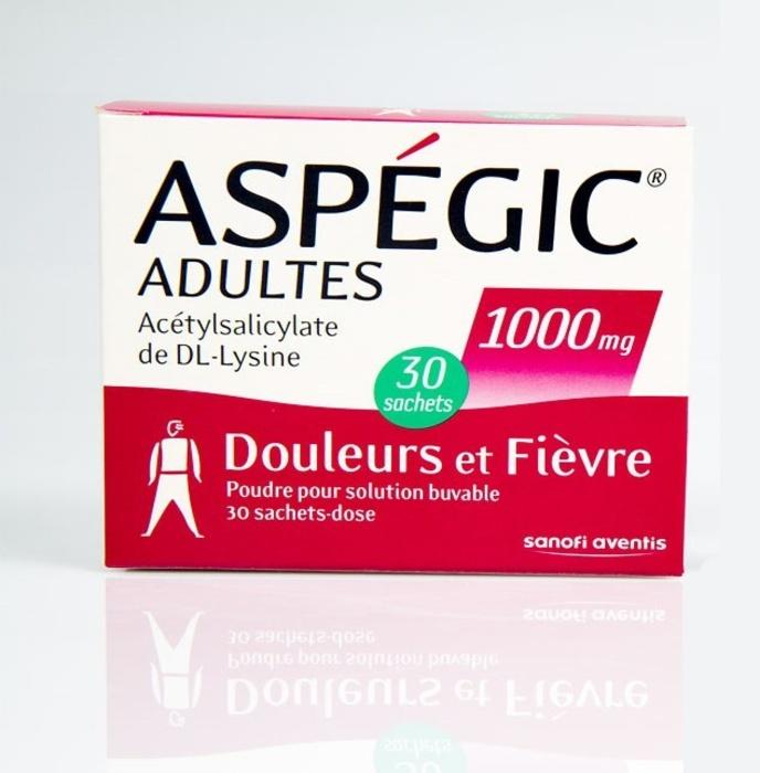 Aspegic adultes 1000mg - 30 sachets Sanofi-192929