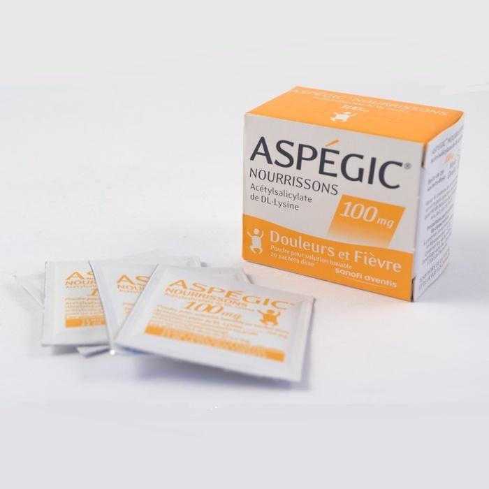 Aspegic nourrissons 100mg - 20 sachets Sanofi-192275
