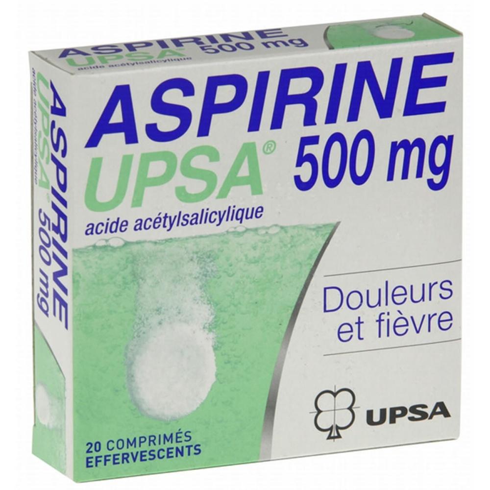 Aspirine  500mg - 20 comprimés effervescents - upsa -192324