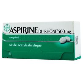 Aspirine du rhône 500mg - 20 comprimés - bayer -194043