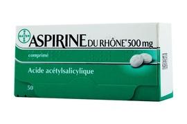 Aspirine du rhône 500mg - 50 comprimés - bayer -194026