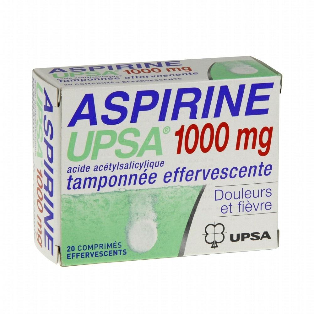 Aspirine tamponnée effervescente 1000mg - 20 comprimés - upsa -192312