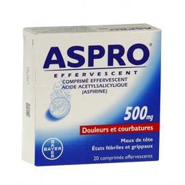 Aspro 500 effervescent - 36 comprimés - bayer -193096