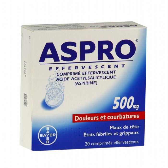 Aspro 500 effervescent - 36 comprimés Bayer-193096