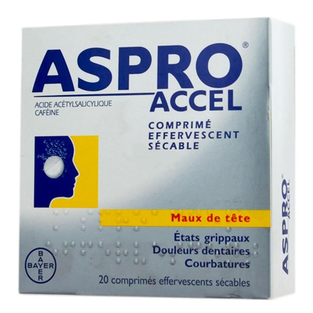 Asproaccel - 20 comprimés effervescents - bayer -206830