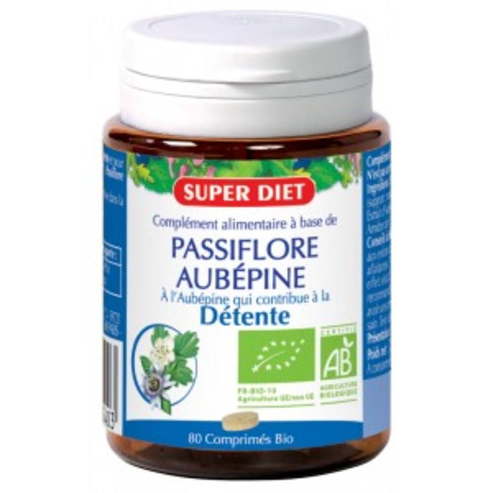 Aubépine - passiflore bio - 80.0 unites - détente - sommeil - super diet Détente, bonne humeur-4496
