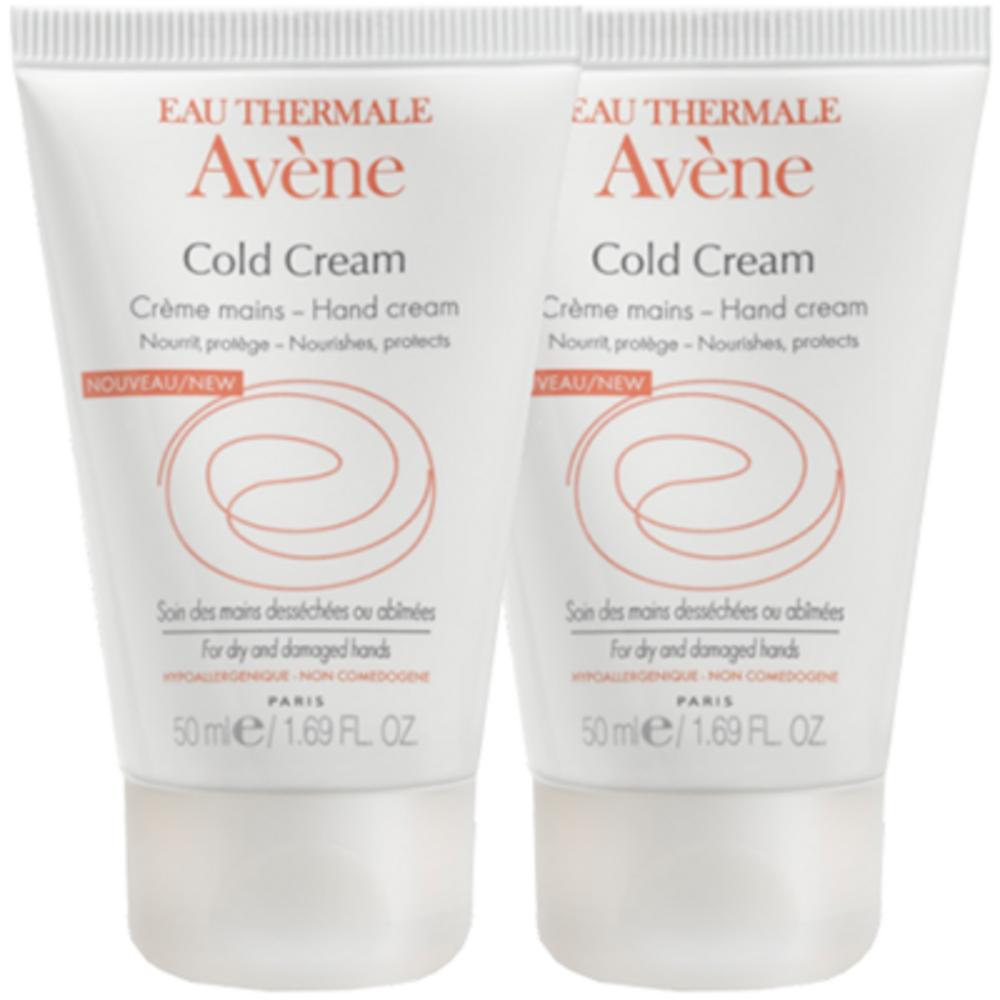 Avene cold cream crème mains - 2 x 50ml - avène -205777