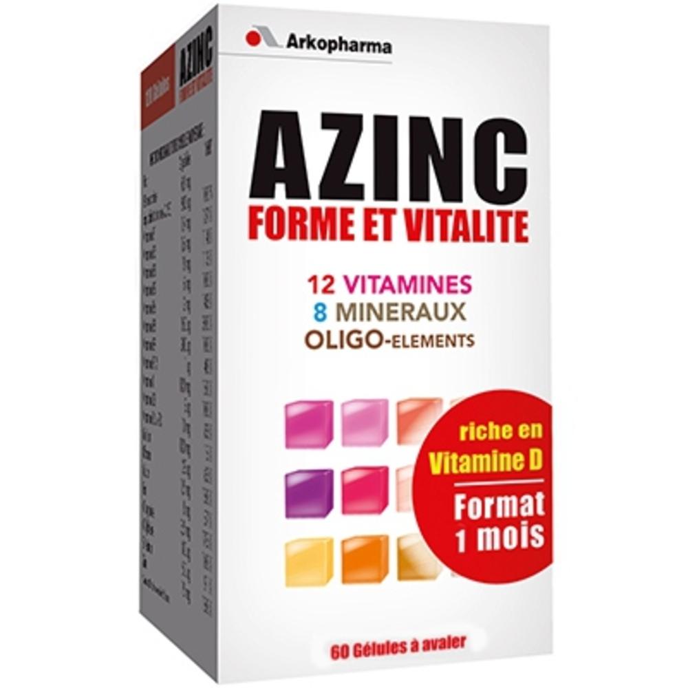 Azinc forme et vitalité - 60 gélules - 60.0 unites - complexes vitaminés - arkopharma Azinc Forme et Vitalité gélules-5444