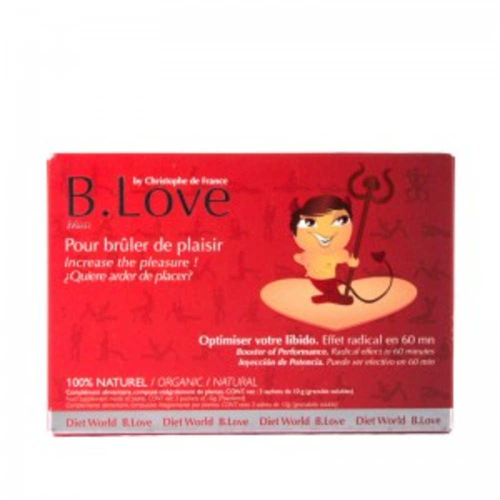 B love homme - 3 sachets de 5 g - divers - dietworld -143303