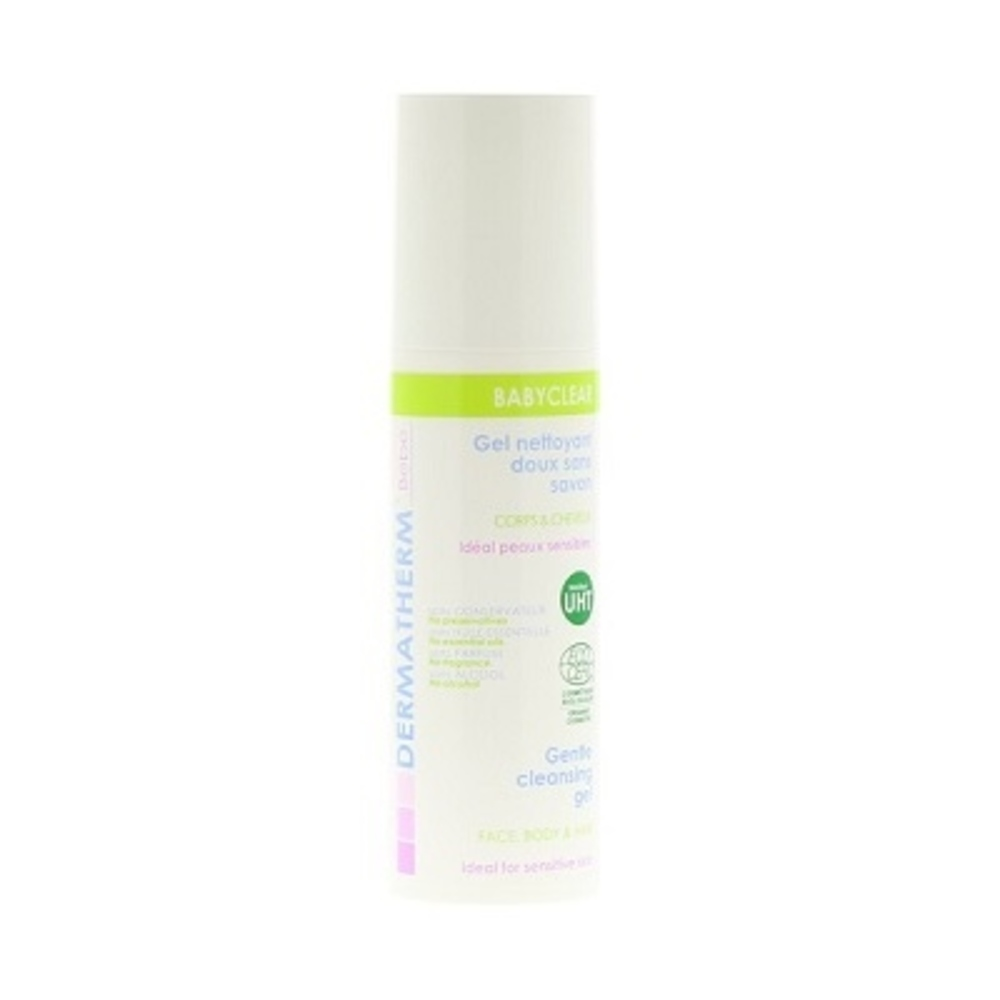 Babyclear gel nettoyant moussant - 150.0 ml - bébé 150ml visage, corps et cheveux - dermatherm Gel Nettoyant Moussant-108484