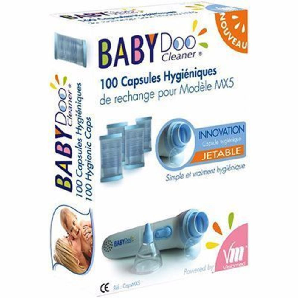 Babydoo 100 capsules hygiéniques jetables - visiomed -215131