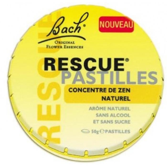Bach rescue pastilles saveur orange sureau 50g Bach original-1450