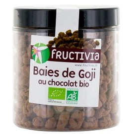 Baies de goji au chocolat bio - pot de 150 g - divers - fructivia -139892
