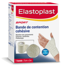 Bande de contention cohesive blanche 3m x 7cm - elastoplast -220407