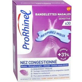 Bandelettes nasales sensitive x30 - prorhinel -223773
