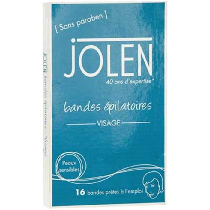 Bandes epilatoires visage - 16 bandes Jolen-200482