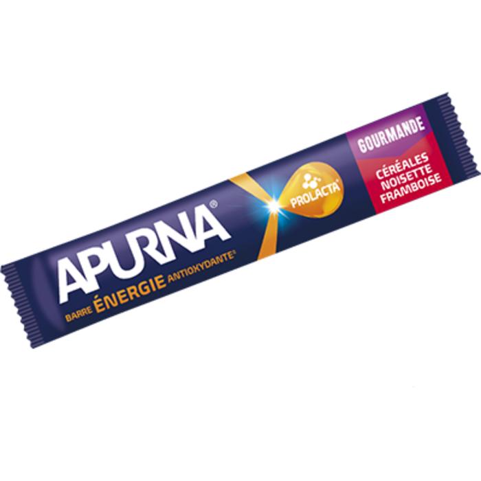 Barre céréales energie antioxydante saveur framboise-noisette 40g Apurna-207339