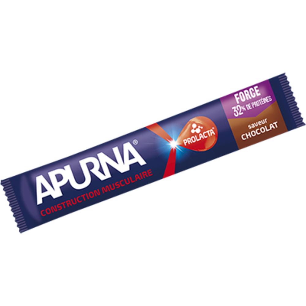 Barre hyperprotéinée construction musculaire saveur chocolat 40g Apurna-207340