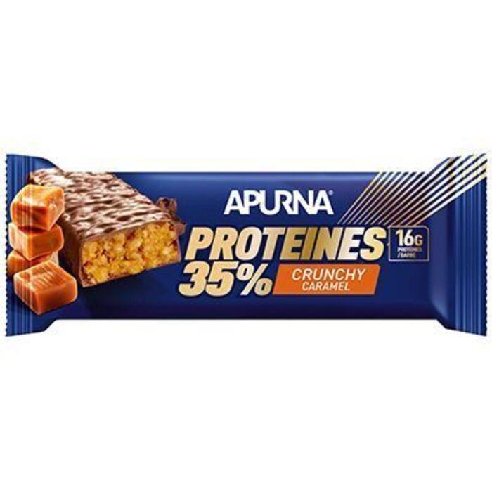 Barre hyperprotéinée crunchy caramel 45g Apurna-225301