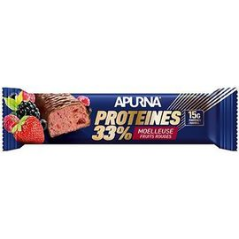 Barre hyperprotéinée moelleuse fruits rouges 45g - apurna -225303