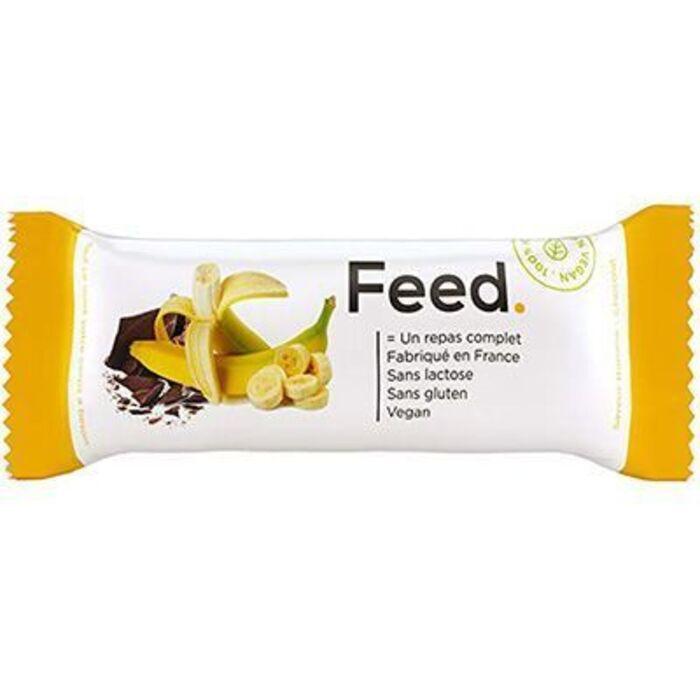 Barre repas complet banane chocolat 406kcal 100g Feed-222061
