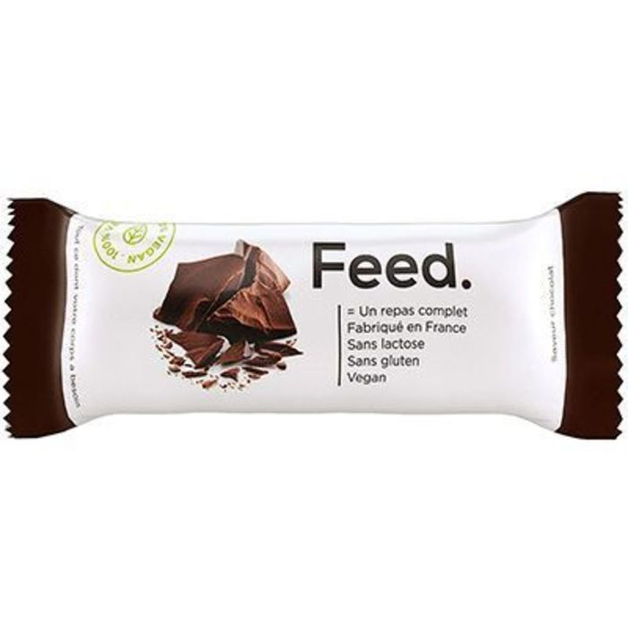 Barre repas complet chocolat 400kcal 100g Feed-222076