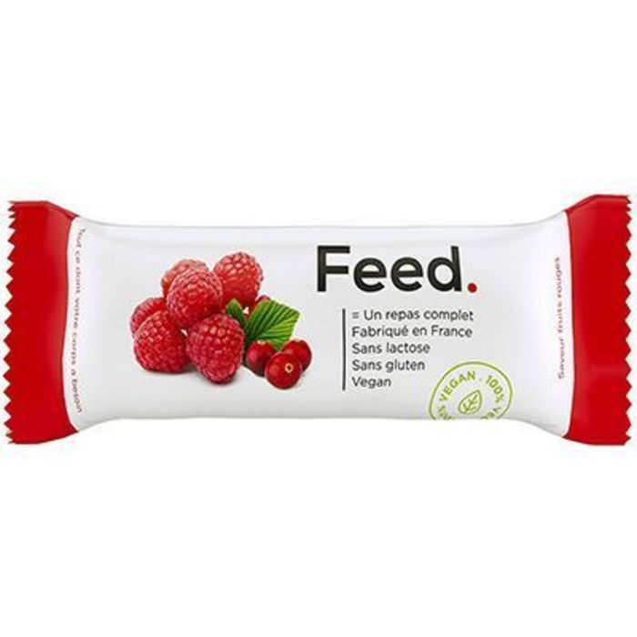 Barre repas complet fruits rouges 406kcal 100g Feed-222077