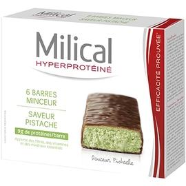 Barres minceur pistache x6 - 6.0 unites - hyperprotéinée - milical -7361