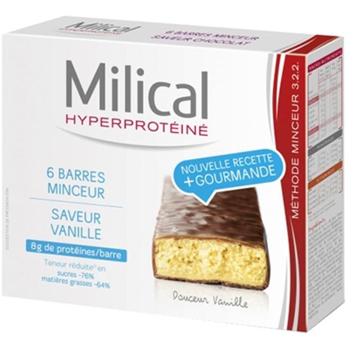 Barres minceur vanille x6 Milical-196311