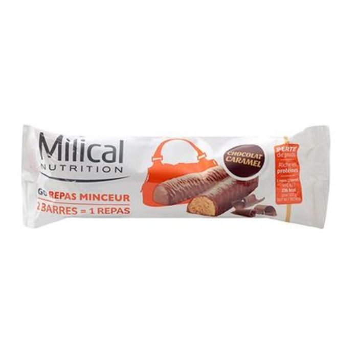 Barres repas minceur caramel x2 Milical-198616