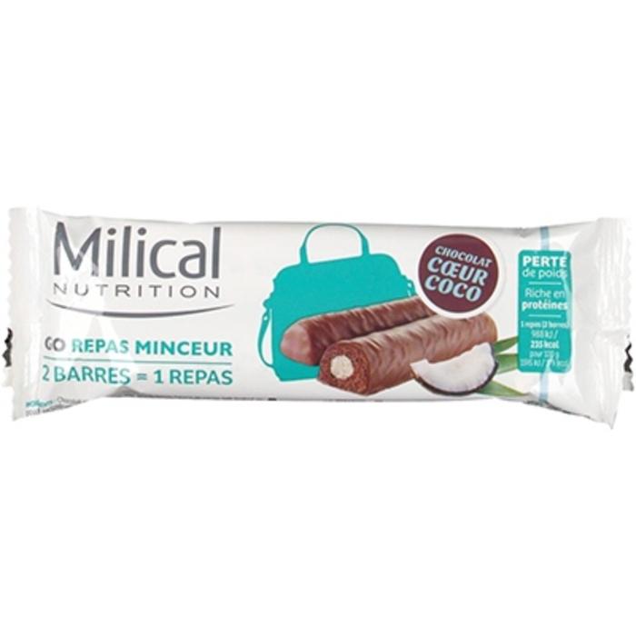 Barres repas minceur chocolat coco x2 Milical-204140